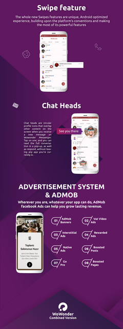 WoWonder Combined Chat Timeline And News Feed Application For WoWonder PHP script - 5