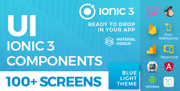 Ionic 3 / Angular 5 UI Theme / Template App - 5 in 1 Multipurpose Starter iOS 12 Style App - 3