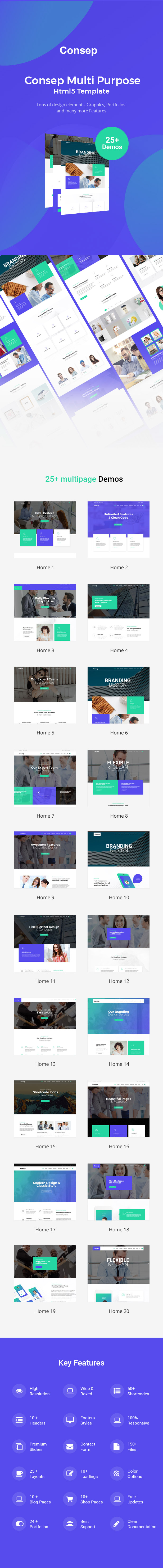 consep responsive multi purpose html5 template by codelayers