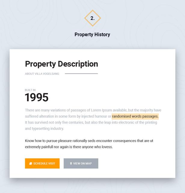 Property History in HouseSang Single Property WordPress Theme
