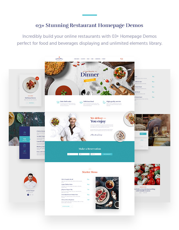 Souldeli - Restaurant & Cafe WordPress Theme