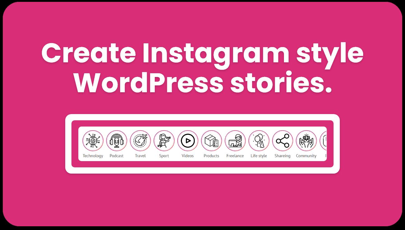 Instagram style stories for WordPress - BP Story - 2