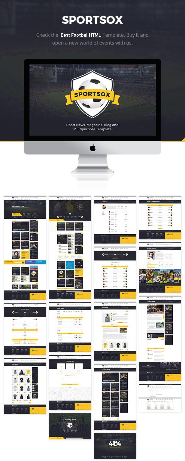 Sportsox | Sport Team Clubs HTML Template by webRedox | ThemeForest