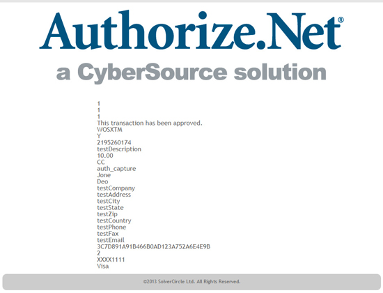 Authorize.Net Payment Gateway for ASP.Net - 7