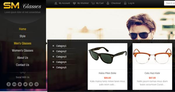 SM Glasses Responsive Magento Theme - 4