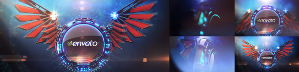 3D Wings Logo Reveal Title After Effects Templates