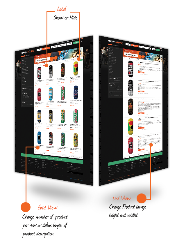 GridListView on Magento theme  Hawkstore