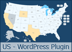 Interactive US Map Clickable States Cities By Art CodeCanyon - Interactive us map plugin wordpress