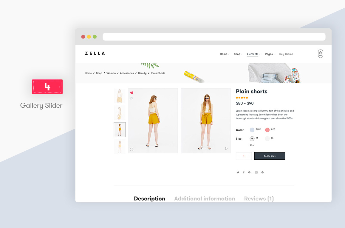 Zella - WooCommerce AJAX WordPress主题 - RTL支持 - 10