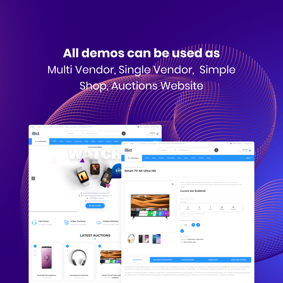 iBid - Multi Vendor Auctions WooCommerce Theme - 23