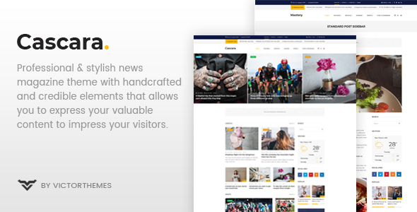 Cascara - Blog, News & Magazine WordPress Theme