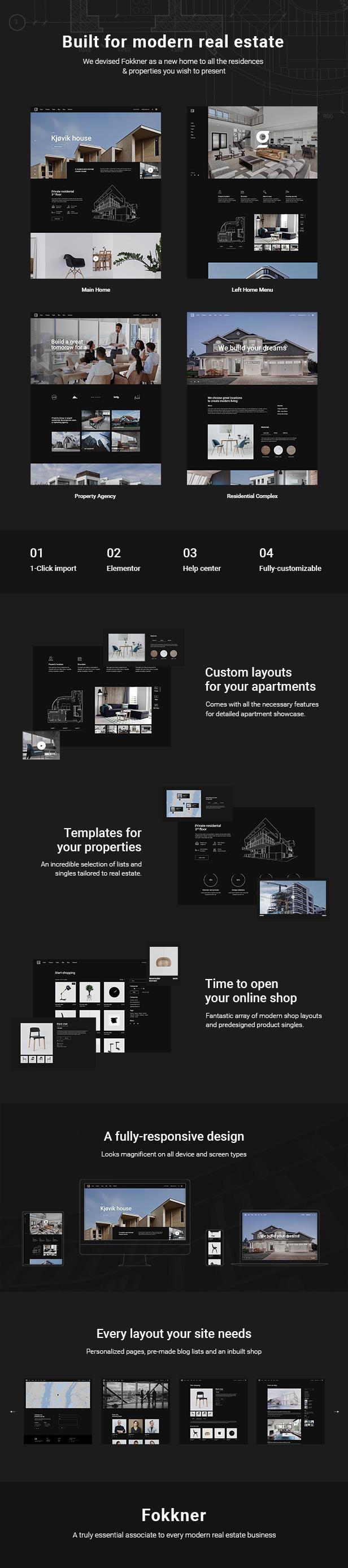 Fokkner Real Estate and Property Free WordPress Theme