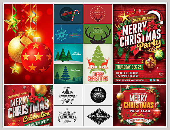 12 Christmas Sale Banners Set - 2