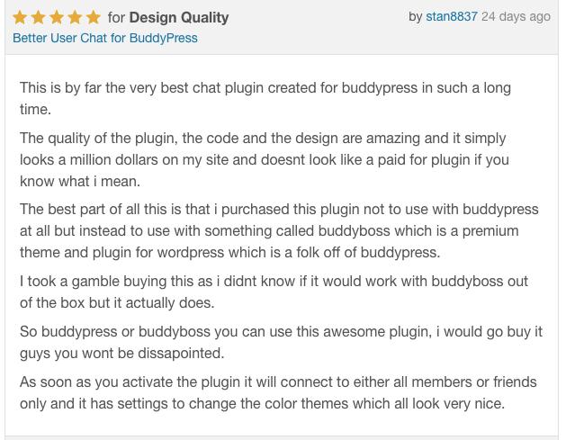 BuddyPress yorumlara Daha kullanıcı sohbet