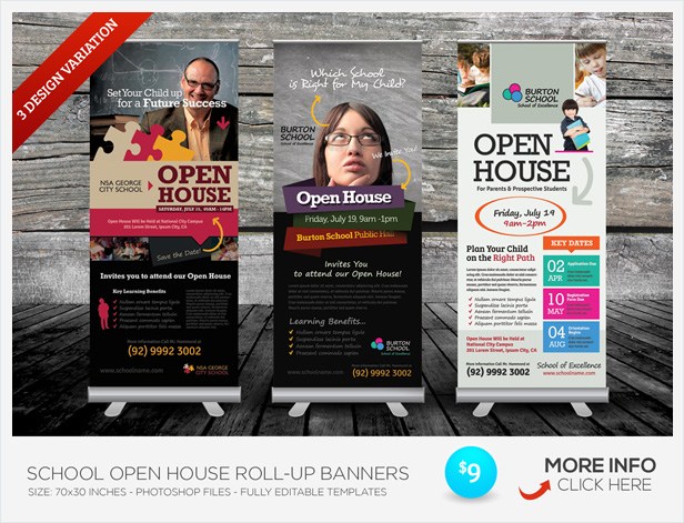 School Open House Flyers By Kinzi21 Graphicriver