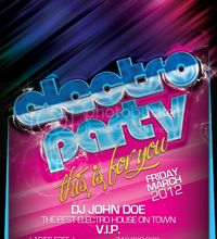Electro Party (Flyer Template 4x6) photo ElectroParty_zps79baa3c8.jpg