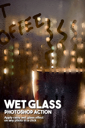 wet glass