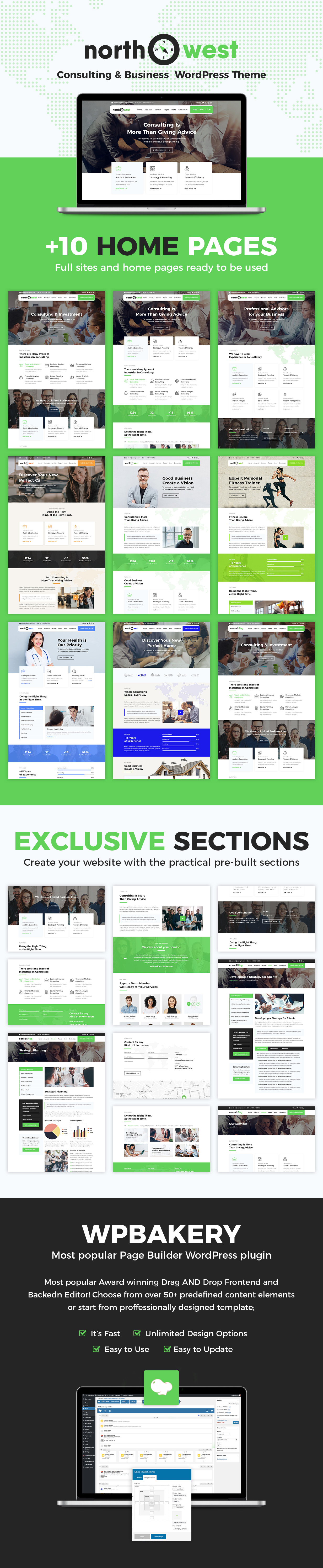 Northwest - Consulting WordPress Theme - 1
