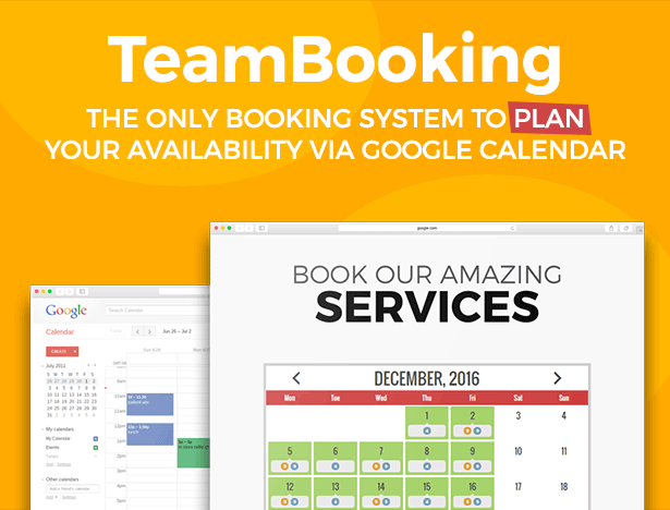 team booking wordpress plugin title