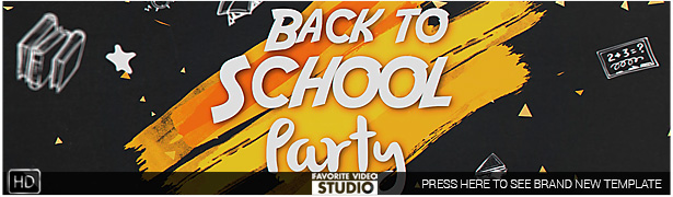 Back 2 School Party Template 2016