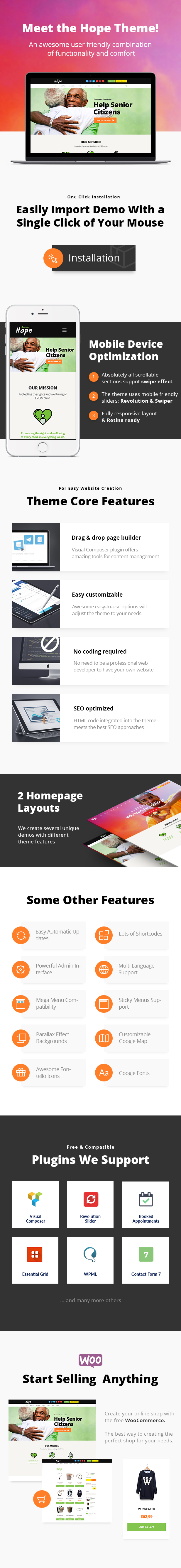 Hope | Non-Profit, Charity & Donations WordPress Theme + RTL - 4