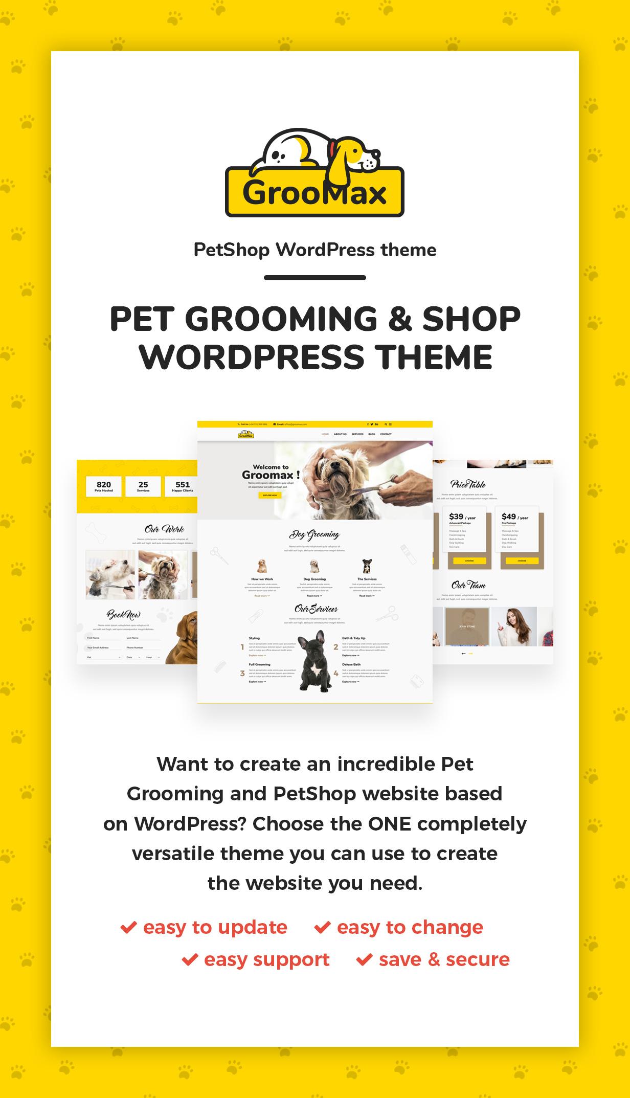 Groomax - Pet Grooming & Shop WordPress Theme - 2