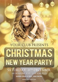 Christmas New Year Party Poster / Flyer / Facebook - 2