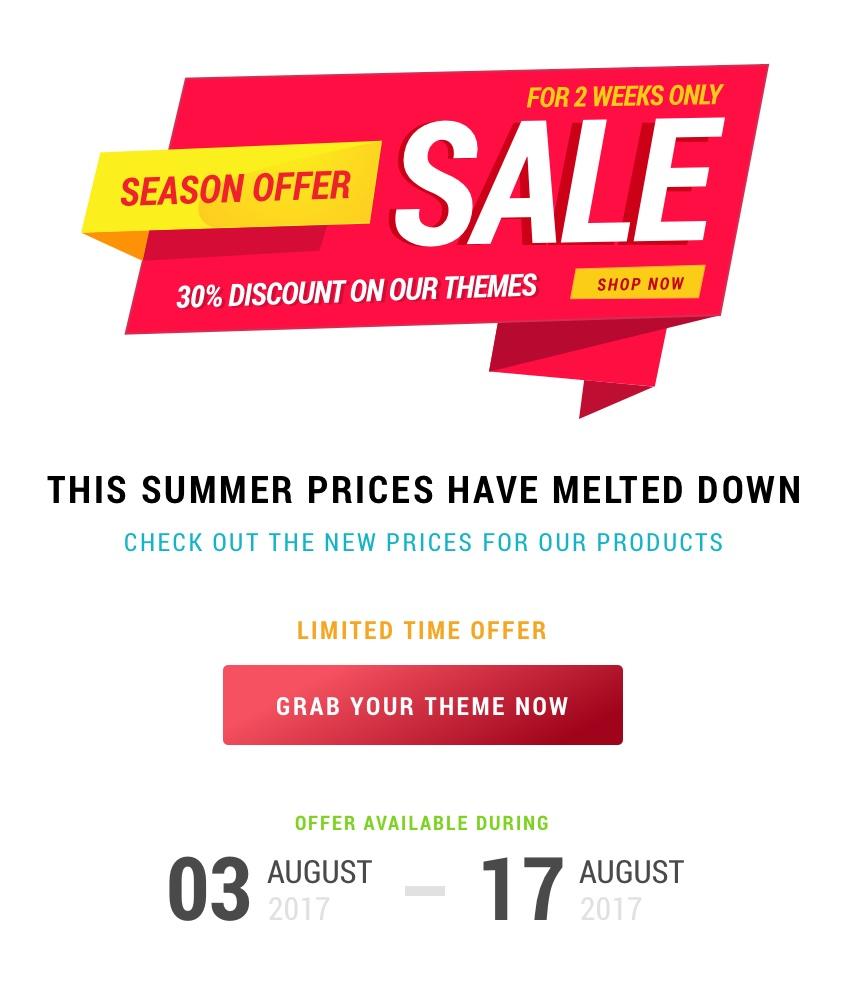 Summer Sale -30%