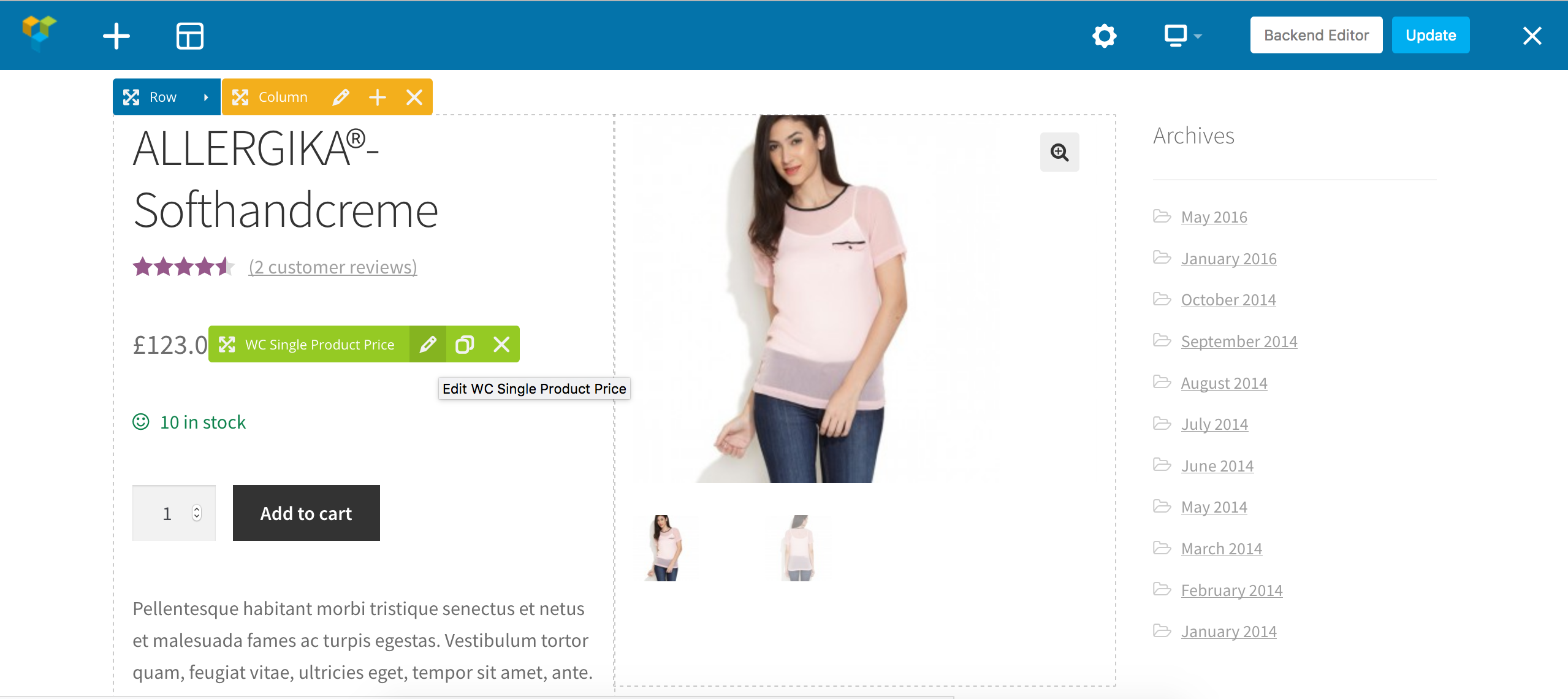woocommerce single product page builder by sitesao codecanyon