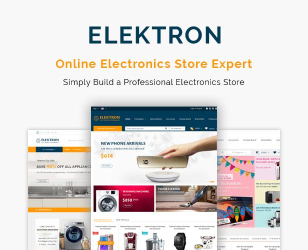 Elektron - Electronics Store WooCommerce Theme - 1