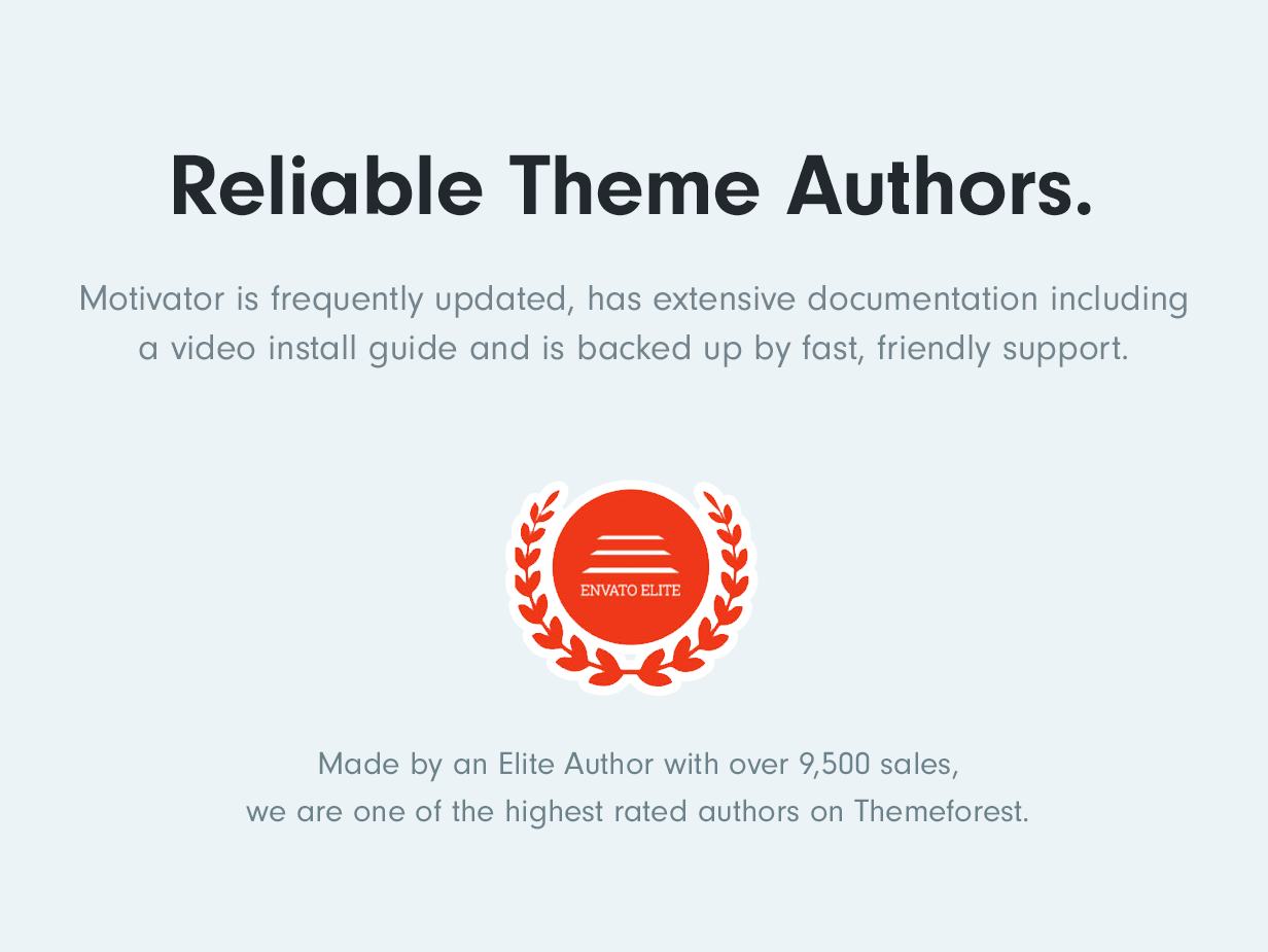 Reliable Elite Theme Authors