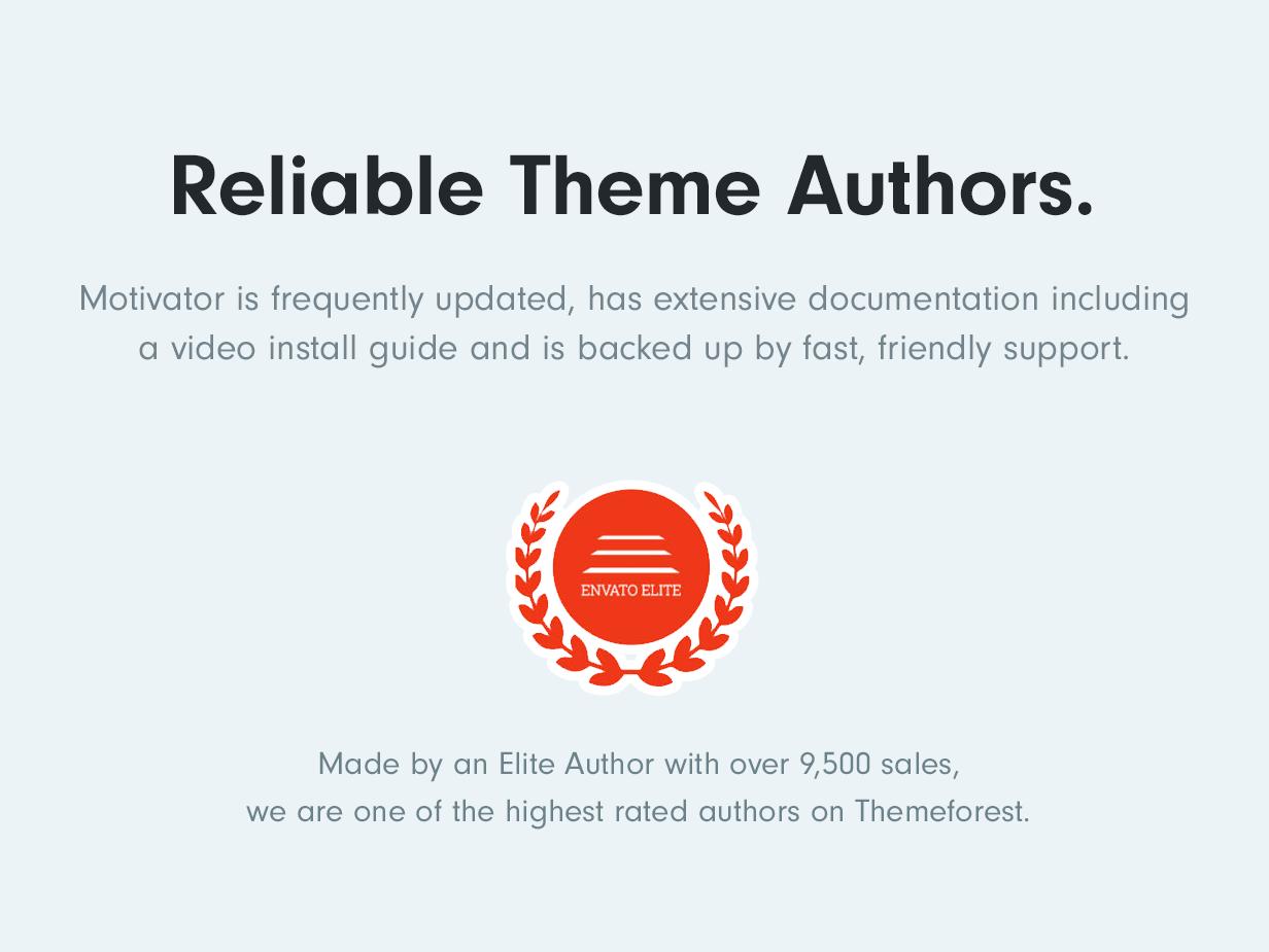 Reliable Elite Theme Authors