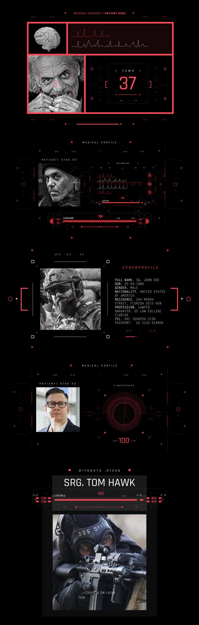 AE脚本-500个HUD高科技赛博朋克UI科幻界面元素动画预设包 Cyberpunk HUD UI 500+ 已修复中文版AE表达式报错插图24