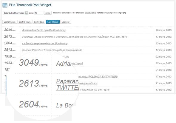 Plus Thumbnail Post Widget - Premium Plugin - 4