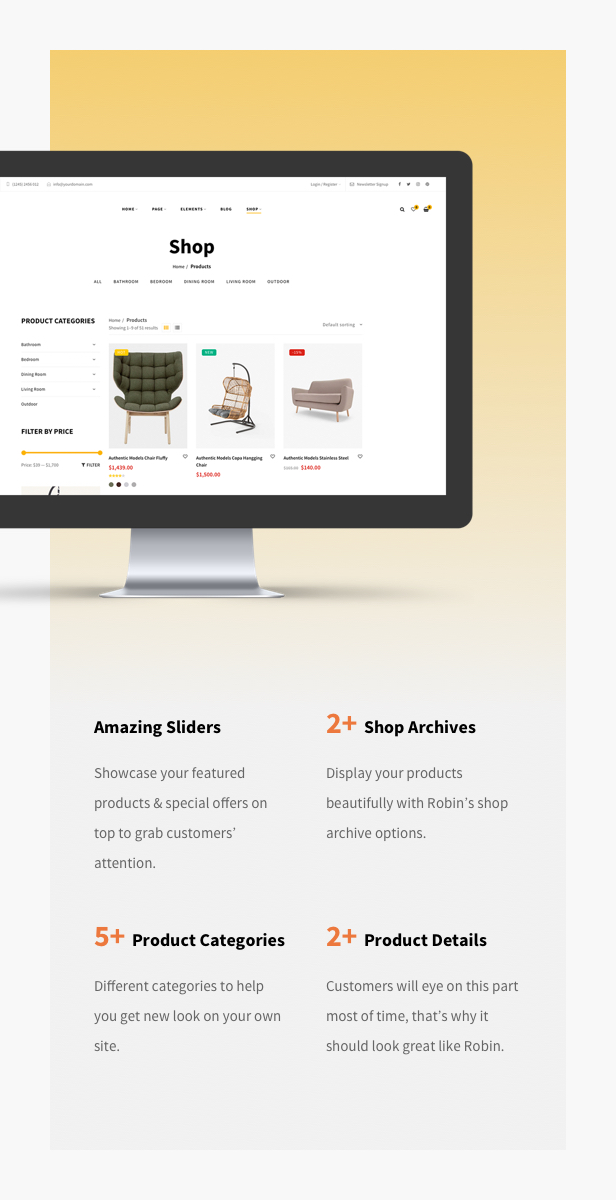 Robin - An Ultimate Furniture WooCommerce WordPress Theme