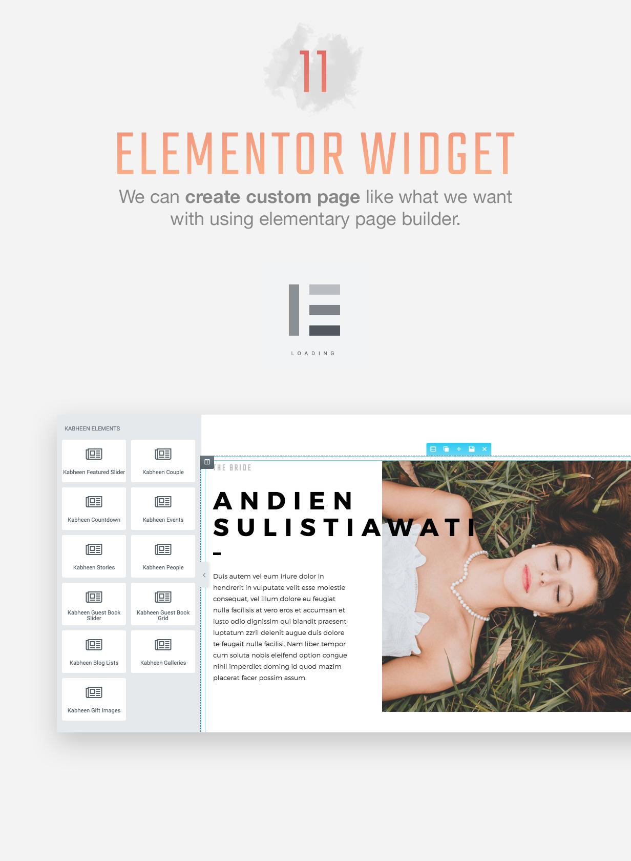 Kabheen - Modern Wedding WordPress Theme - 4