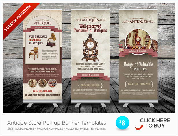 antique store flyer templates by kinzi21 graphicriver