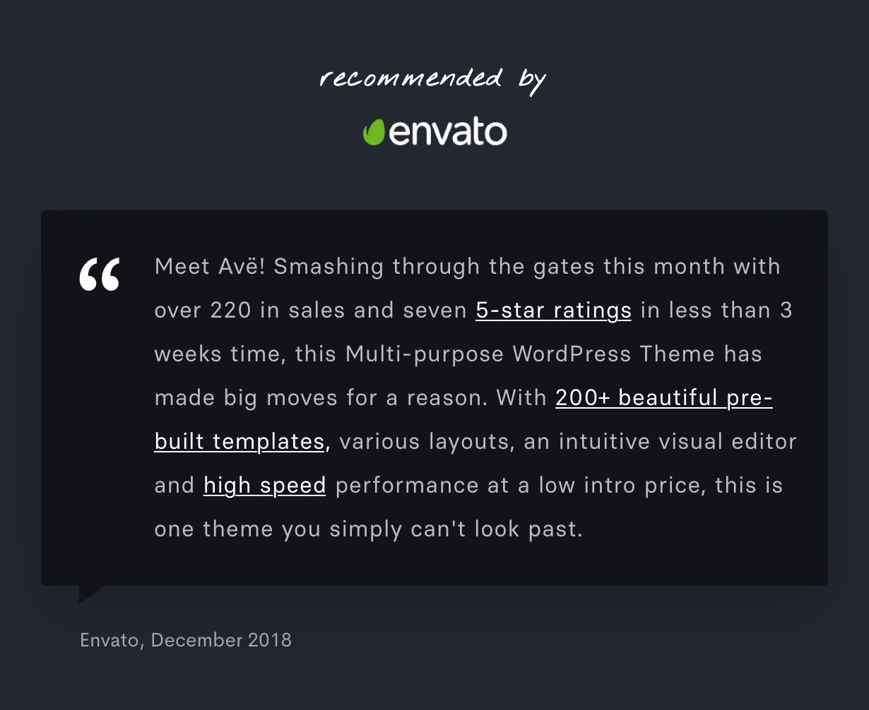 Ave - Responsive Multi-Purpose WordPress Theme - 4
