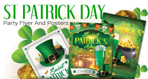 St Patrick Day Flyer And Poster Template