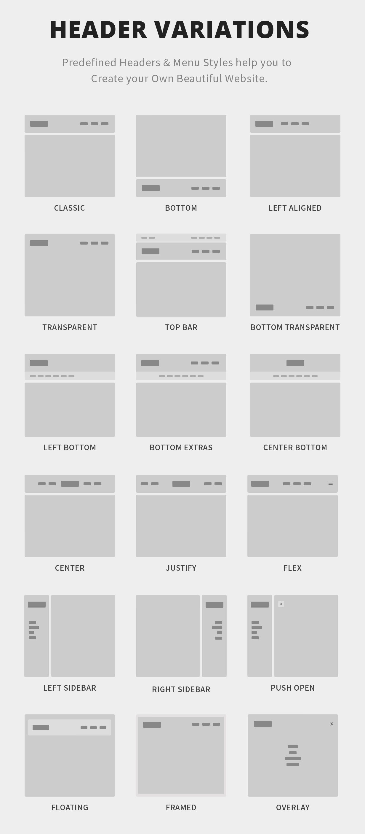 Canvas the multi purpose html5 template by semicolonweb for Html header menu templates