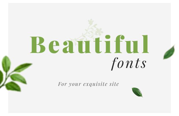 Organic Store WordPress theme - Beautiful Fonts