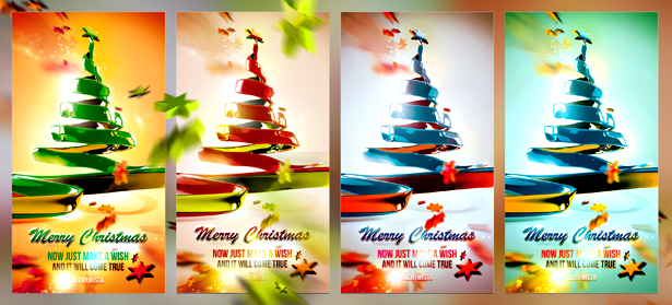 More color variations of this Christmas design