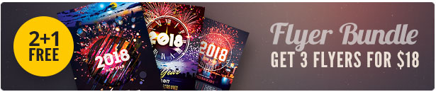 New Year Flyer Bundle Vol.10