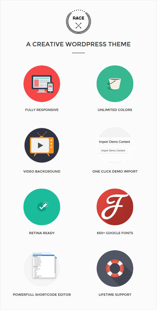 Race - Creative One Page WordPress Theme - 1
