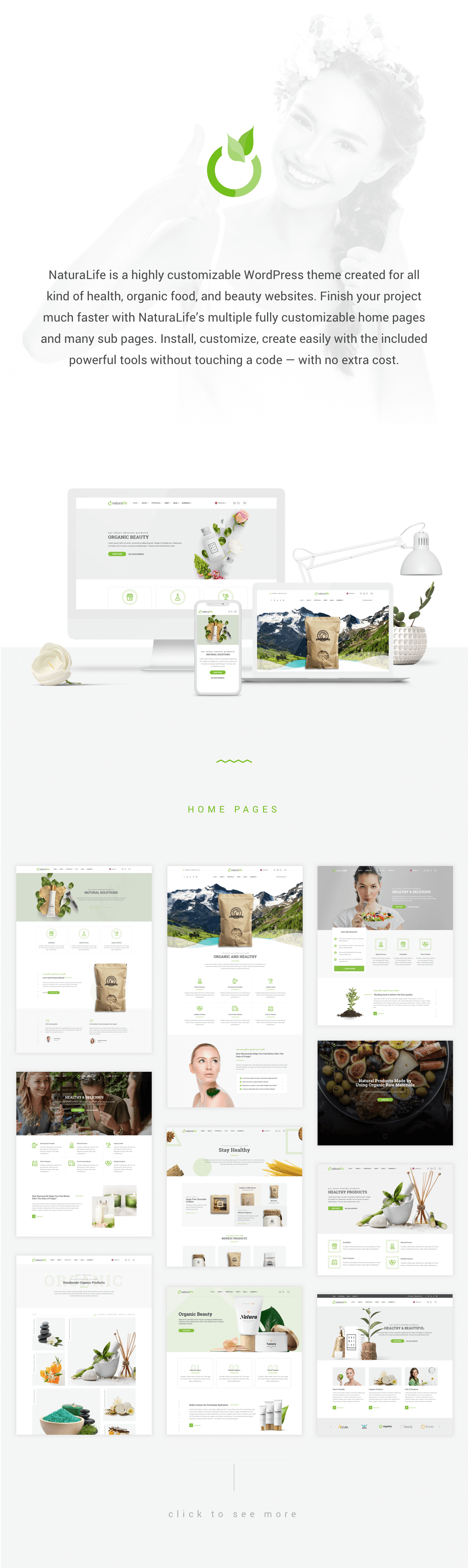 NaturaLife | Health & Organic WordPress Theme