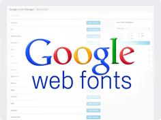 Toneladas de fontes do Google