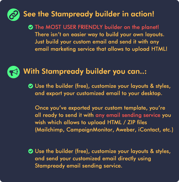 Responsive Email Builder - RESPONSIBLE - Email Marketing Newsletter Templates + Online Editor Access - 9