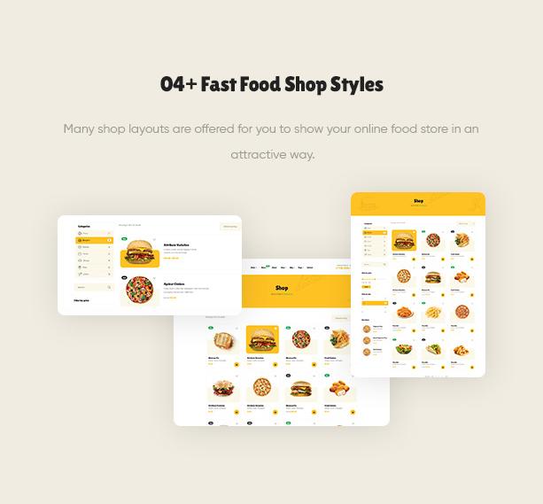 Poco - WordPress тема ресторана быстрого питания