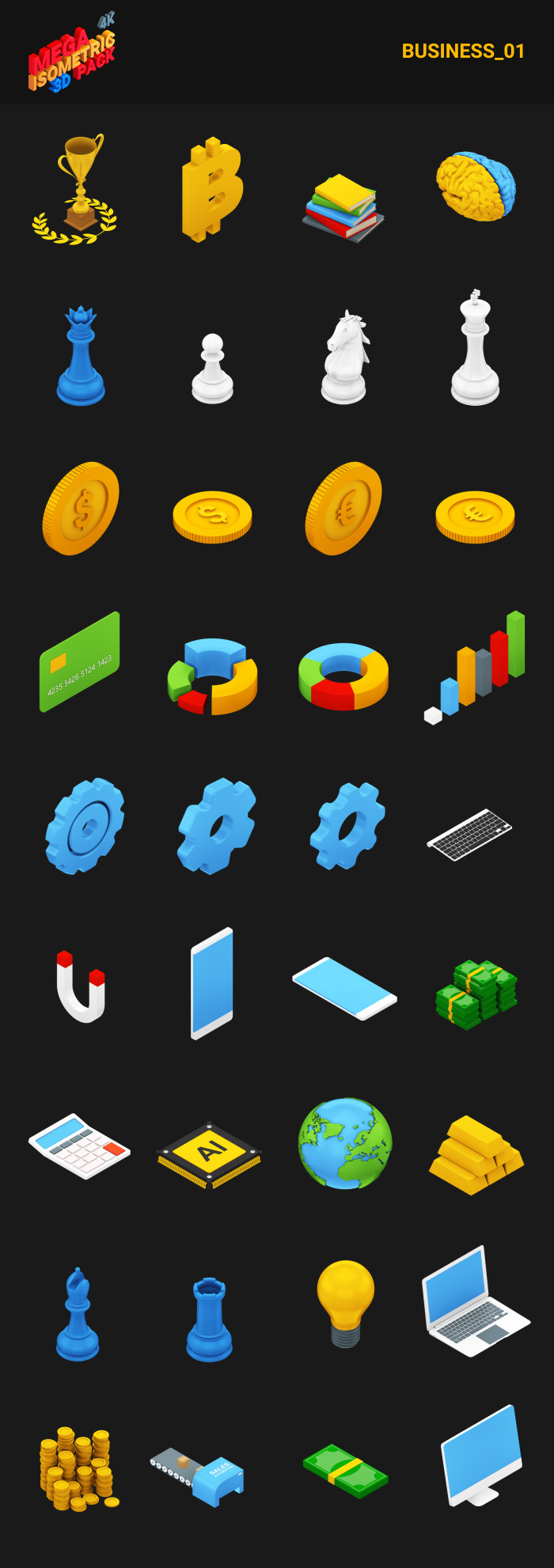 Isometric Mega Pack - 11