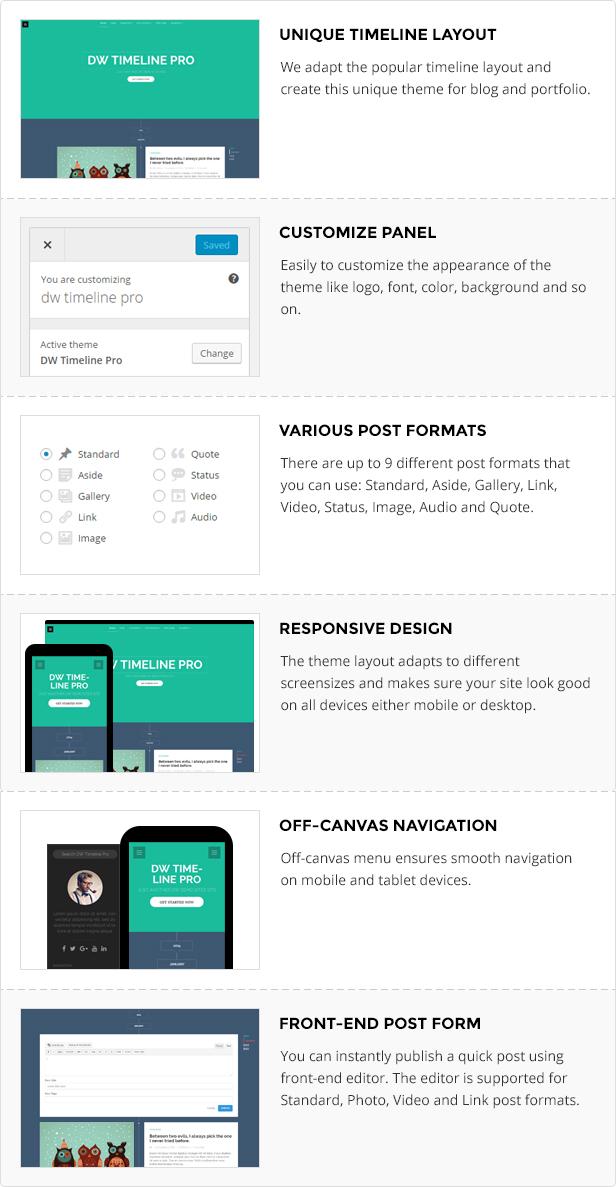 DW Timeline Pro - Reponsive Timeline WordPress Theme by designwall_wp
